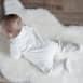 Dos Pyjama bébé velours 100 % coton biologique