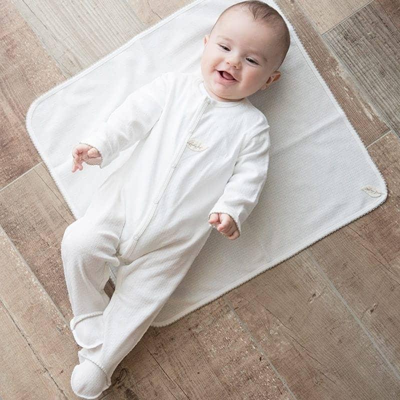Pyjama bébé maille ajourée 100% coton biologique