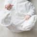 Détails broderie et sérigraphie Pantalon Sarouel en velours 100% coton biologique