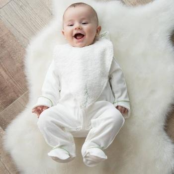 Grand bavoir éponge 100% coton biologique