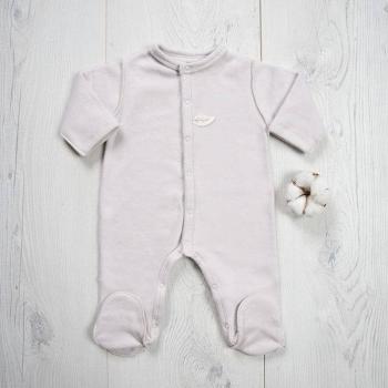 Pyjama polaire taupe claire en coton biologique