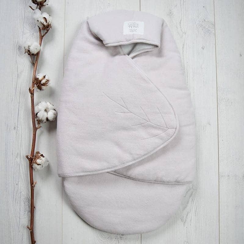Nid d'ange bébé taupe 100% coton biologique