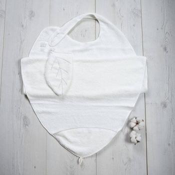 Grande cape de bain et son gant 100% coton biologique