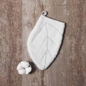 Gant de toilette en éponge 100% coton biologique