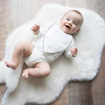 Bavoir feuille interlock 100% coton biologique