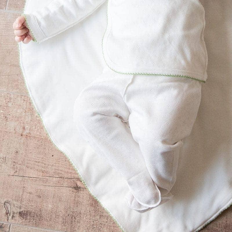 Pantalon maille ajourée en coton bio