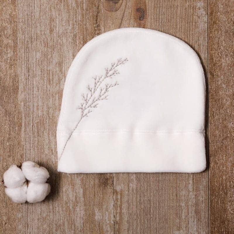 Bonnet velours en coton bio