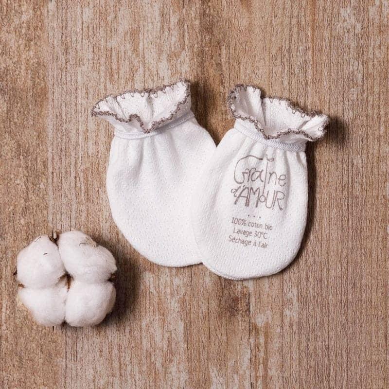 Gants anti-griffure en coton bio