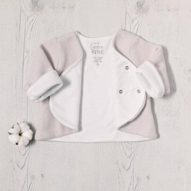Veste polaire en coton biologique