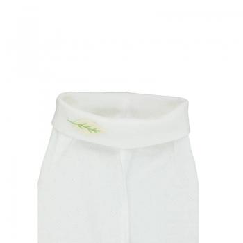 Détail Pantalon bébé maille ajourée 100% coton biologique